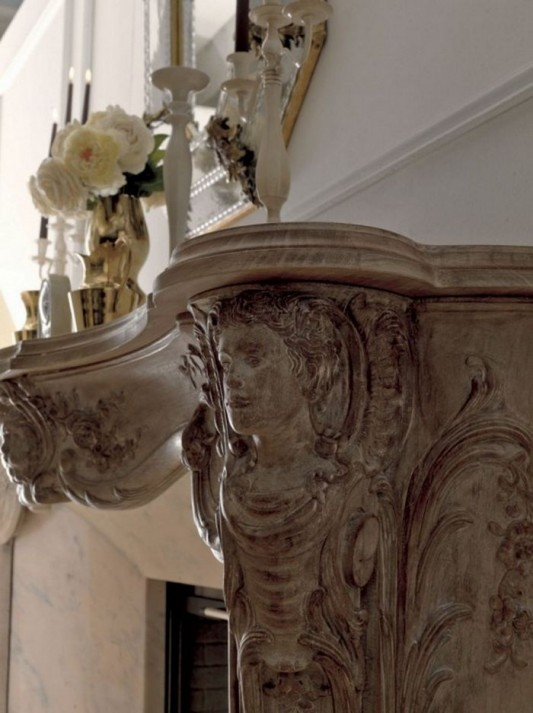 artistic classic fireplace motifs detailed by Savio Firmino