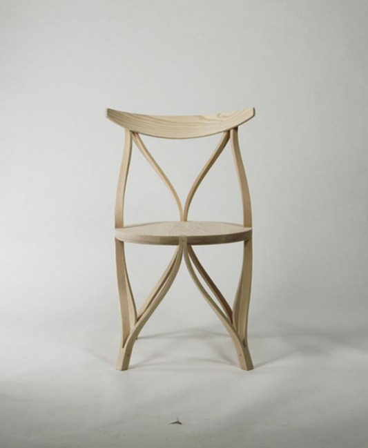 artistic wooden chair design by dohoon