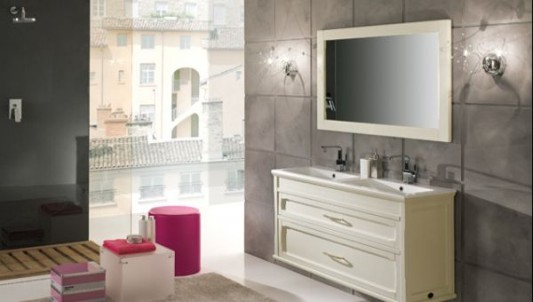 Bathroom Mirror With White Pearls Elegant Combination Of Wall Lights Venere