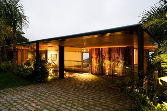 beach house with dim lights design