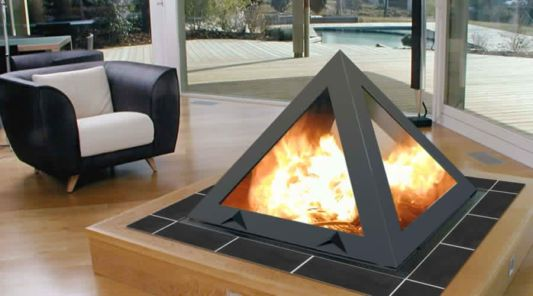 beautiful design classical pyramid fireplace