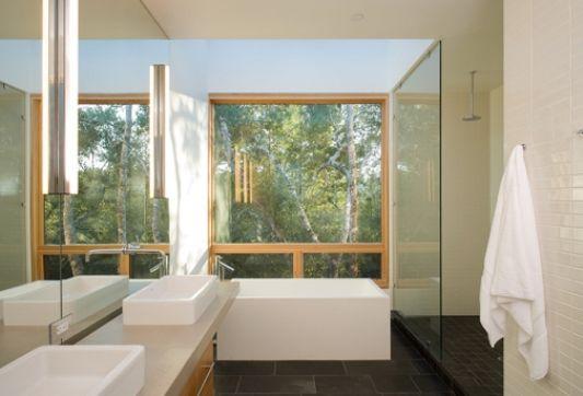beautiful informal cottage with modern bathroom
