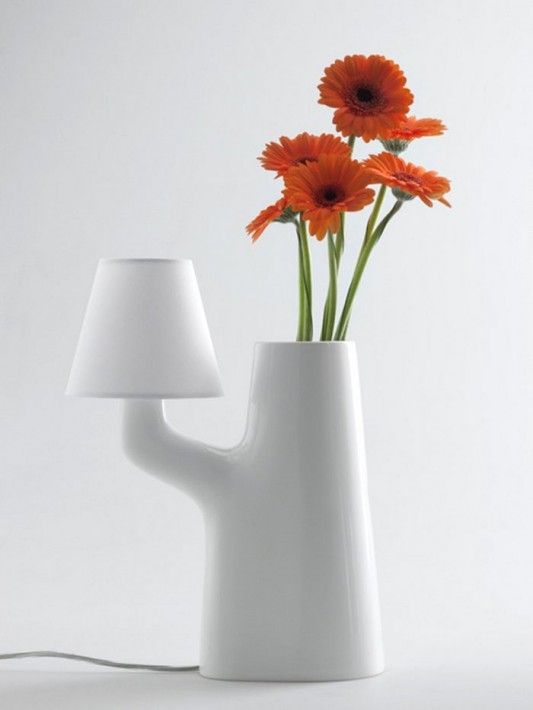 beautiful table lamps design built-in vase