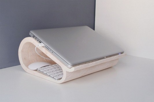 beautiful wooden laptop stands design