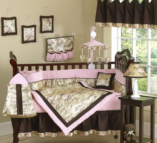 beauty girly pink crib bedding collection