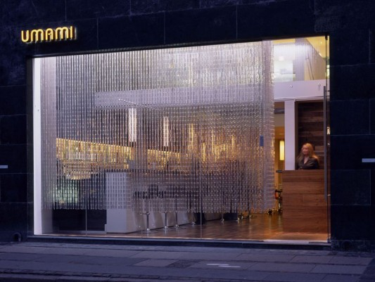 beauty glass curtain design for luxury restaurant