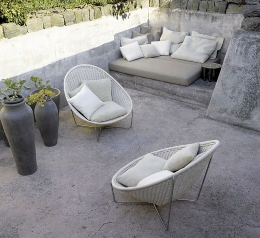 Beauty Natural Stone Outdoor Patio Ideas By Paola Lenti Home