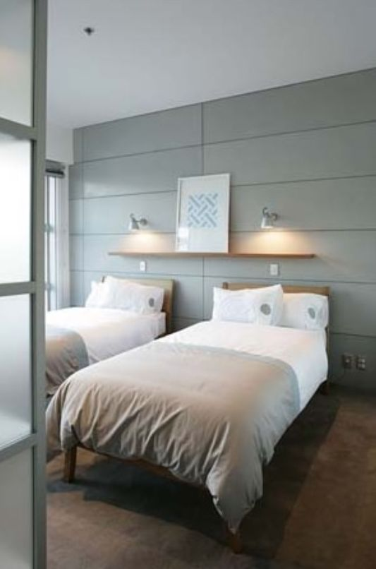 bedroom with single bed feigin apartment