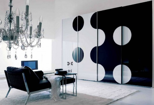 big size modern Italian sliding door wardrobes