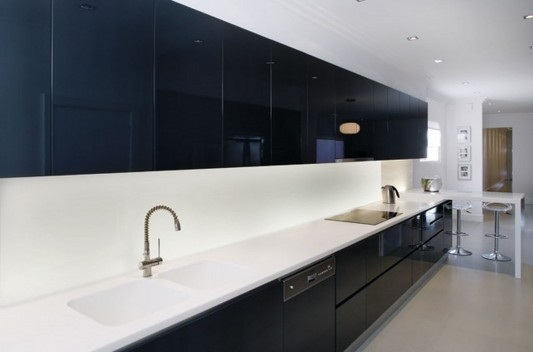 black and white Colour Collection Kitchen Design ideas