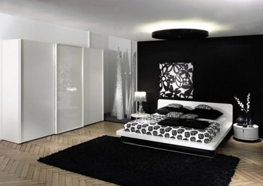 Black And White Wardrobe Designs For Contemporary Bedroom By Hulsta - Minimalist-bedroom-interior-inspiration-from-huelsta