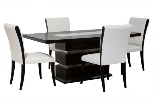 black and white elegant dining room furniture set