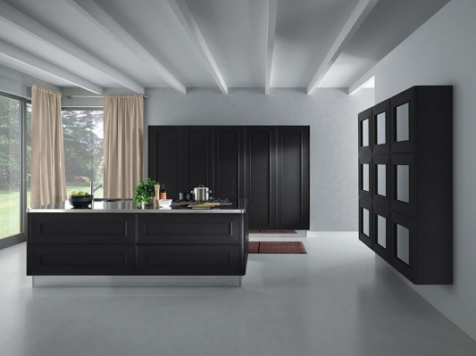 black and white kitchen decorating with melograno by composit