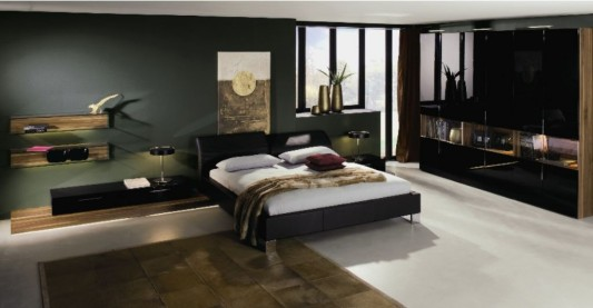 black and white minimalist leather beds ideas