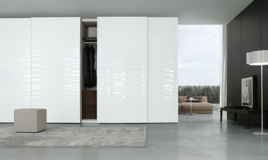 black and white modern and stylish Italian walk-in wardrobes