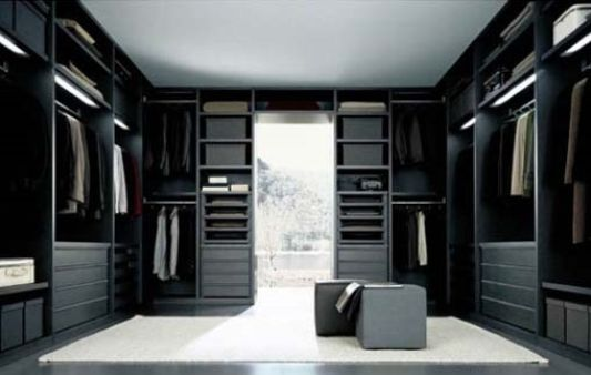 Charmant Black And White Walk In Closet Modern Design