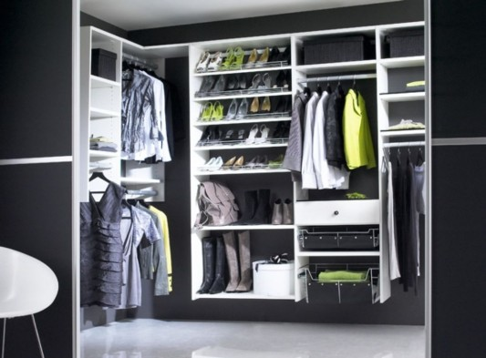 Black And White Walk In Wardrobes Modern Design With Sliding Door Ideas