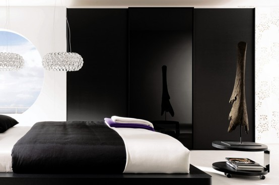 black and white wardrobes bedrooms