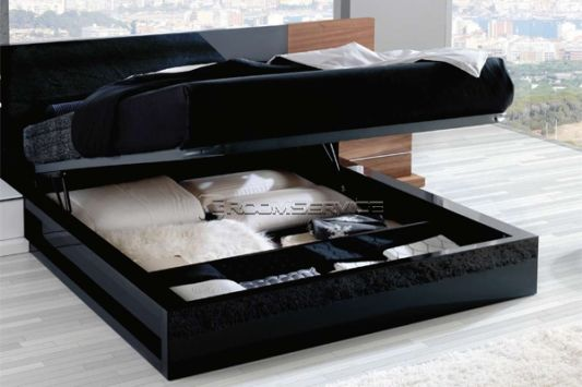 black bedroom furniture collections with storage system