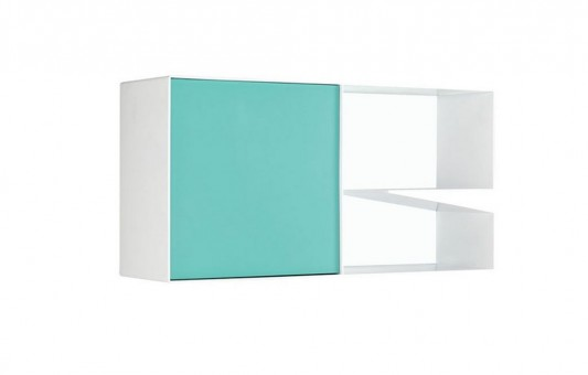 blue and white modern minimalist multifunction cabinet