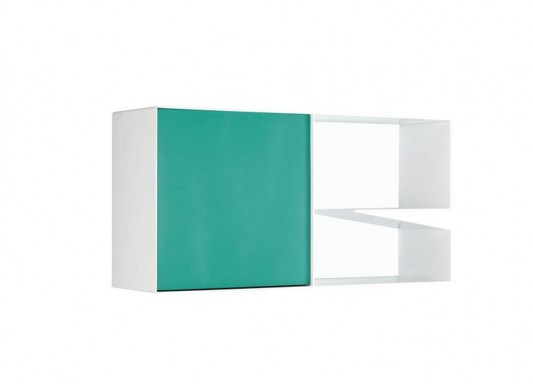 blue and white stylish aluminum cabinet design