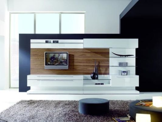 Living room decoration with modern wall unit boss by milmueble home design inspiration - Tv wall unit designs ...