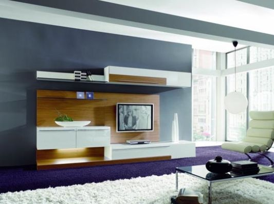living room decoration with modern wall unit boss by. Black Bedroom Furniture Sets. Home Design Ideas