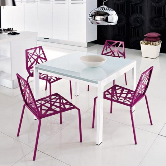 bright and colorful Atra kitchen chair design with Metal frame