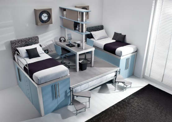 bureaus under the bed on teenage loft private room