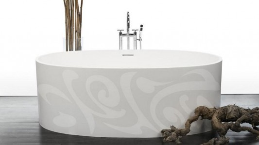 calligraphy motifs modern free standing bathtubs fashionably and decorative design