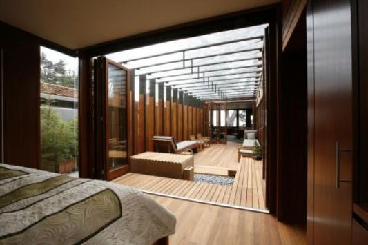 carmel residence mahogany interior design ideas