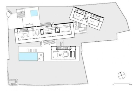 casa en el bosque site plans