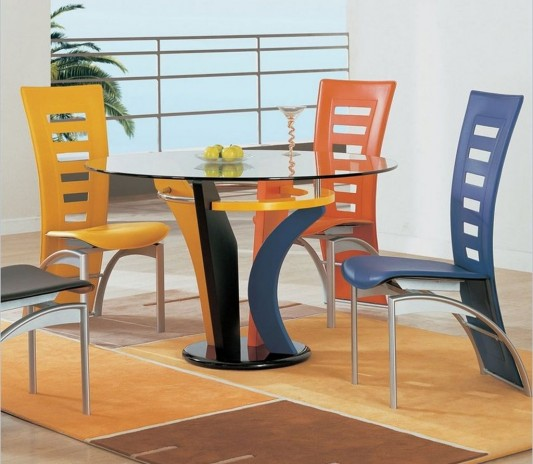 Colorful Casual Dining Furniture Set Design By Global