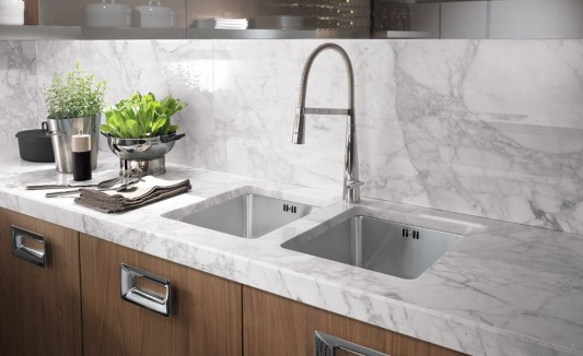Classic Contemporary Washbasin With Marble Stone