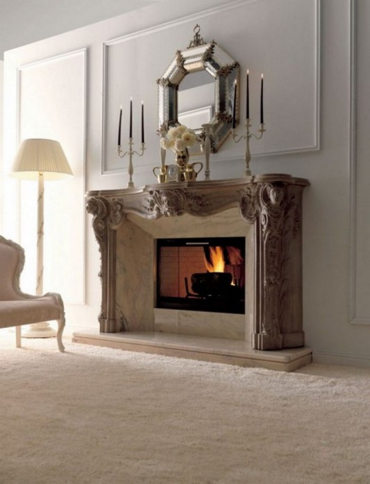 classic fireplace design luxurious and elegant ideas
