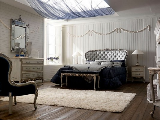 classical bedroom decorating with glamorous design