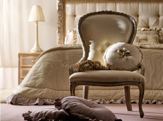 classical chair for luxurious bedroom design