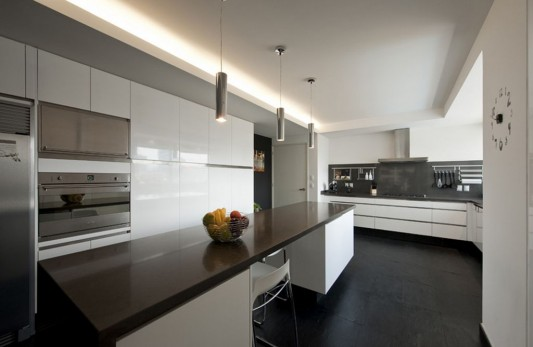 clean and open modern apartment kitchen design
