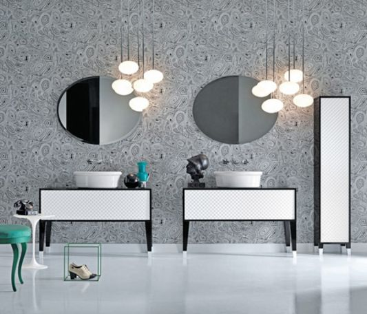coco collection choice of black and white bathroom vanity