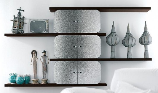 cocoon modern and elegant wall mounted shelving design