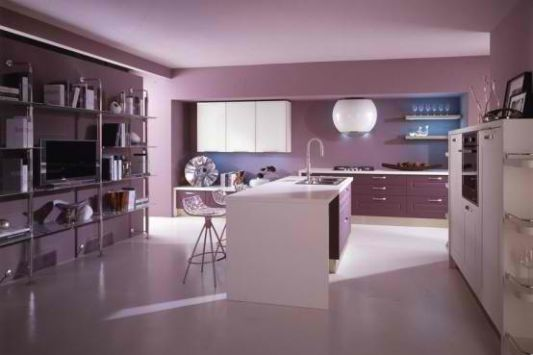 collection of violet and pink kitchen design ideas