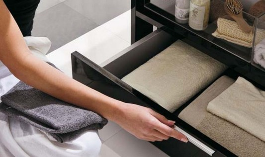 collection storage drawers black for modern bathroom