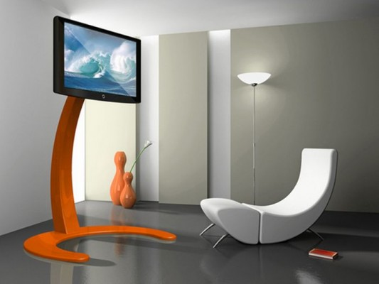 Lcd Stand Designs For Home : Innovative xelo system exclusive futuristic lcd tv stand ideas