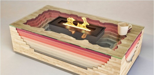 colorful decorative portable fireplaces design volcano inspired
