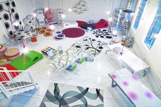 Colorful Showroom Interior Design