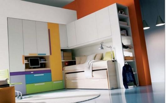 colorful teen room with minimalist design - Minimalist Teen Room Interior