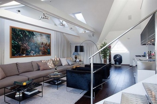 comfortable modern loft apartment interior ideas