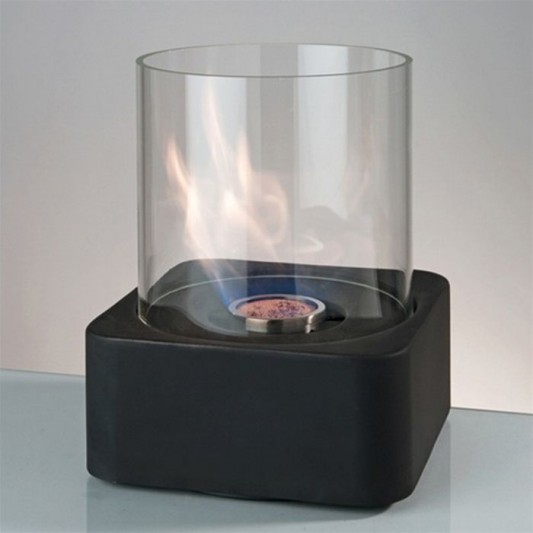 compact and portable table fireplace design