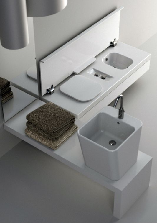 compact washbasin designs with storage