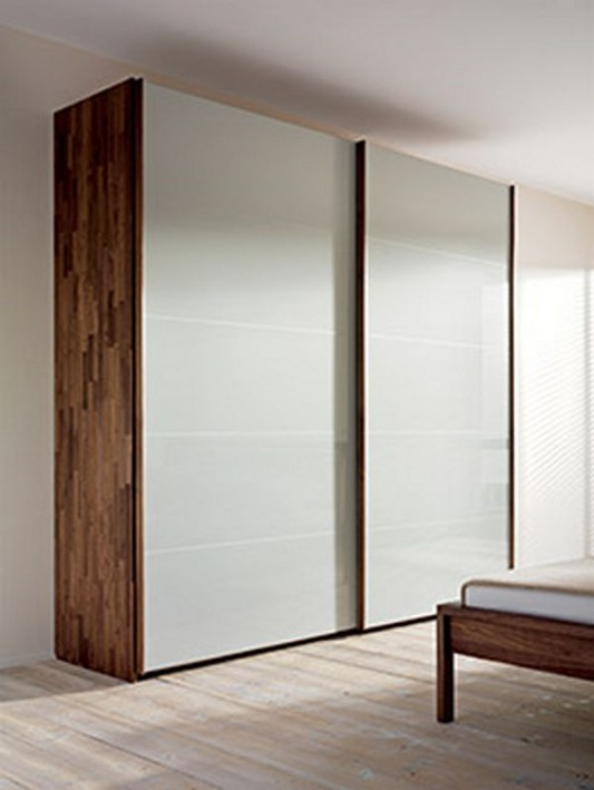 contemporarysolid wood wardrobes sliding door design